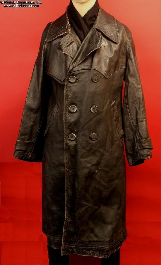 Collect Russia Soviet Air Force pilot's leather coat ...