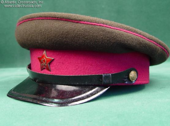 25fce765f Collect Russia SOVIET MILITARIA Officer and Enlisted Visor Hats ...