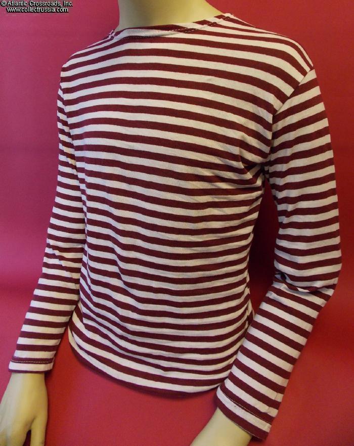 1ba70c52 Collect Russia Soviet MVD OMON Special Forces <i>Telnyashka,</i>  traditional striped knit shirt with <i>maroon</i> stripes. Soviet Russian